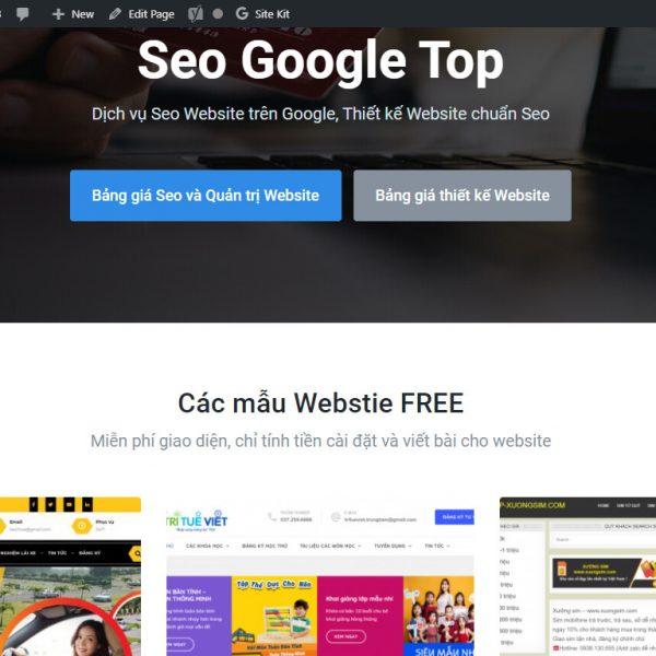 Website dịch vụ marketing