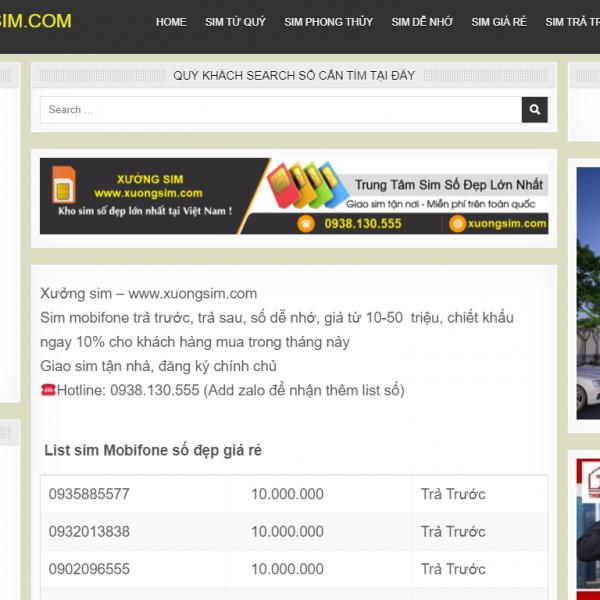 Website bán sim số đẹp